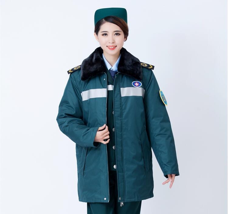 Winter Ambulance Jacket Cotton Jacket First Aid Work Jacket