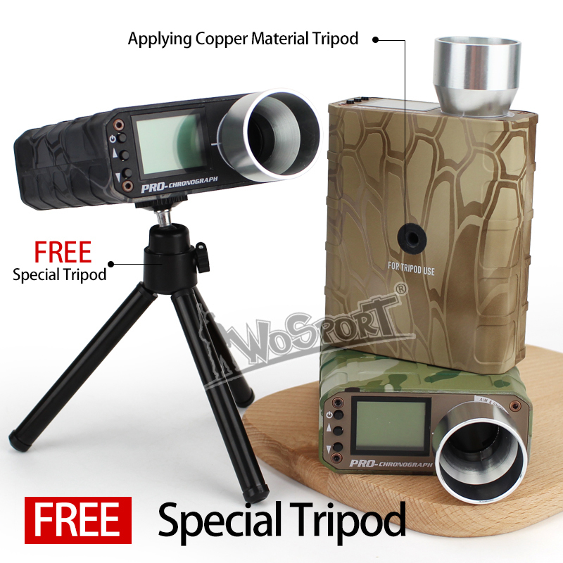 Wosport New Camouflage Chip Digital Tacycomer Level Professional Speech Tatometer Instruments For BB Ball