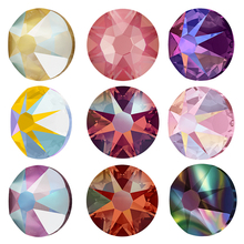 Nail Rhinestone Glass 2088 Crystal 16-Cut Flatback Shimmer-Colors Fix E6666 Facets Top-Quality