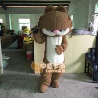 Garfield Cat Mascot Costume Cartoon Character Mascotte Christmas Adult Animal Funny Dress Halloween Birthday Cosplay Apparel