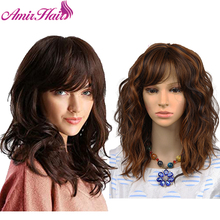 Amir Short Blonde Wigs for White Women Curly Wavy Synthetic Female Hair Wig black Wigs cosplay middle party wig