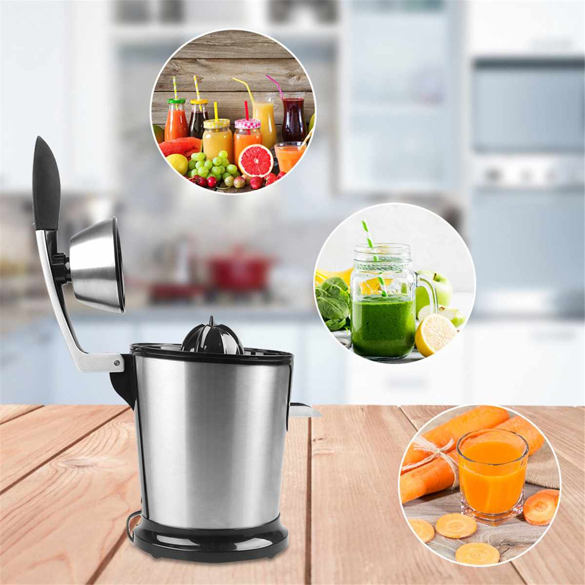 160W Lemon Citrus Juicer in Blender Electric Cold Press Juicer Citrus Juice Extractor Stainless Steel Queezer Sonifer Easy Use
