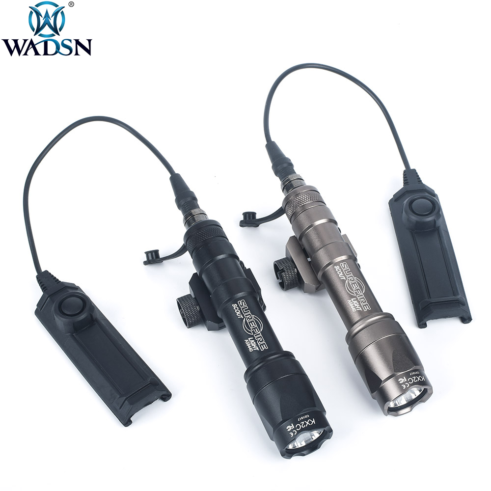 WADSN Airsoft Surefir M600 M600C Scoutlight Led 340Lumen Tactical Hunting Weapon Flashlight Torch With Dual Function Tape Swtich