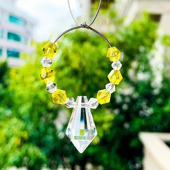 Kryształy-kwiat-girlanda kryształy-kwiat-koło pryzmaty wisiorek wiszące wskazał sopel szklany żyrandol świeca Party Chirstmas tanie i dobre opinie CN (pochodzenie) Kryształowy żyrandol