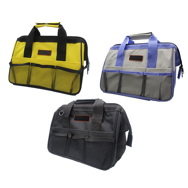 1pc Cheap Multifunction Nylon Canvas Waterproof Tool Bags Portable Double Oxford Cloth Storage Bag Close Top Wide Mouth 2019 New