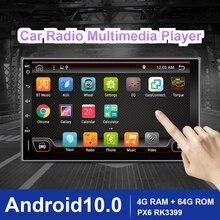 Eunavi 2 דין רכב רדיו מולטימדיה נגן Android10 אוניברסלי 7 HD אוטומטי אודיו סטריאו GPS ניווט 2Din 4G WIFI DSP 4G RAM BT5