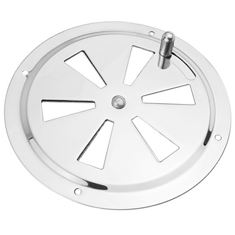 Round Air Louver Vent & Side Knob Opening Grille Cover Marine Boat RV 316 Stainless Steel Ventilation Louvered Vent
