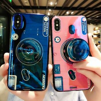 Роскошный чехол-держатель для телефона xiaomi note 10 CC9 pro play max2 3 mix 2s 6 8 9 se 8lite pocophone f1 силиконовый чехол с подставкой для камеры