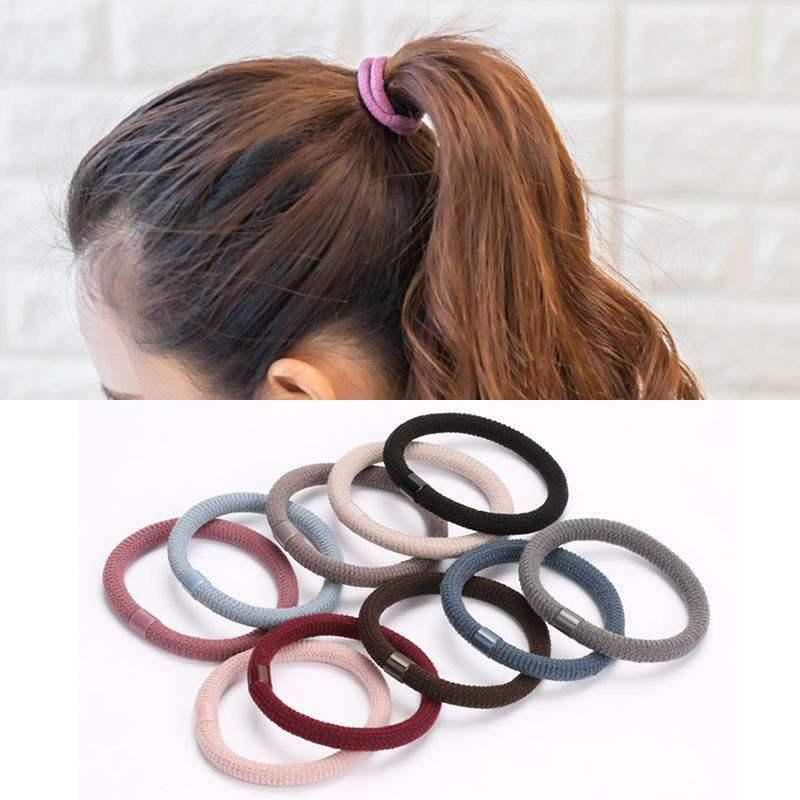 10Pcs Korean Colorful High Elastic Hair Rubber Bands Women Girls Hair Rope Strong Hair Gum Scrunchies Hair Accessories Headwear