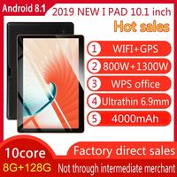 2019 10.1 inch tablet PC 3G LTE Android 7.0 10 Core metal tablets 8GB RAM 128GB ROM WiFi GPS 10.1 tablet IPS WPS CP9
