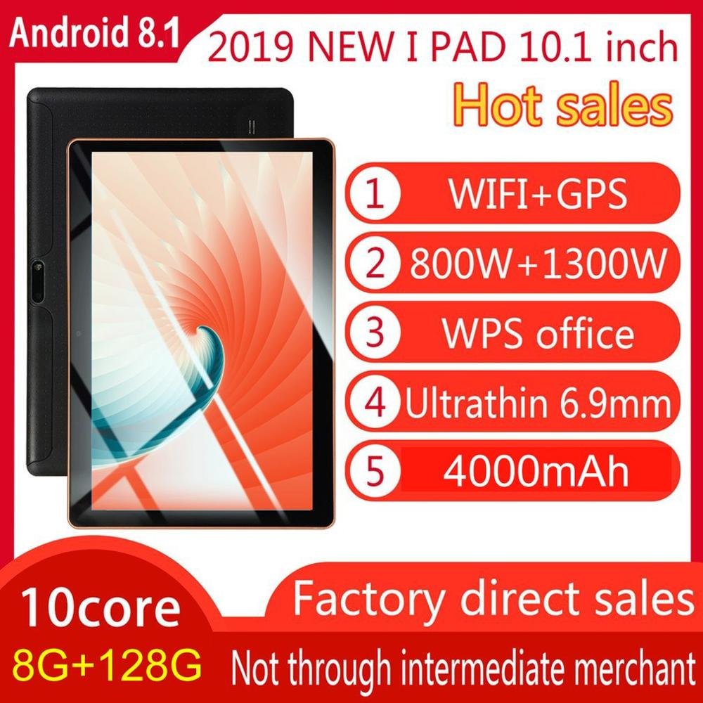 2019 10.1 pouces tablette PC 3G LTE Android 7.0 10 Core métal tablettes 8GB RAM 128GB ROM WiFi GPS 10.1 tablette IPS WPS CP9