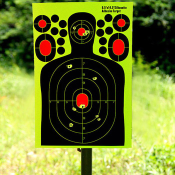 Entrenamiento de caza papel de destino pegatinas fluorescentes pistola de disparo papel de destino Etiqueta de alta calidad papel fluorescente objetivo