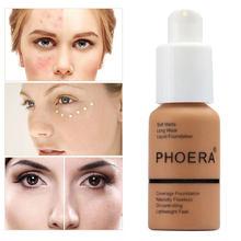 PHOERA Жидкая основа для макияжа База крема минеральный сенсорный отбеливание консилер из мягкой матовой контроль выработки кожного жира Гор...