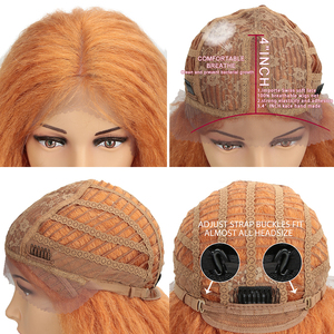 "Image 5 - 魔法の髪合成レースフロントウィッグ黒人女性のための 38 ""インチ耐熱ウィッグ編組髪緑ピンクレースかつら人工毛"