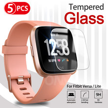 9H Премиум Закаленное стекло для Fitbit Versa & Versa Lite Smartwatch защитная пленка аксессуары (не для Versa 2)