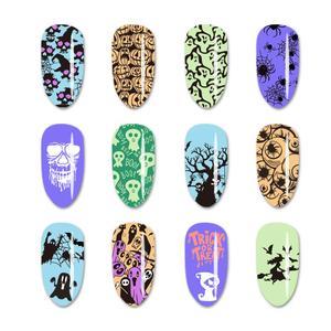 Image 2 - Beautybigbang Nail Stamping Plates Stainless Steel Strip Skull Flower Image Stamp Nail Art Carimbo De Unha Stamping Nail Art