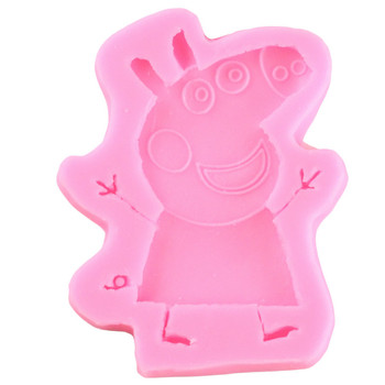 Peppa Pig Cake Cookie Cutter Plastic 3D Baking Mould Peppy Pig Cookie Cutter Set Cartoon Biscuit Baking Tools Decoration Tools2 easter rabbit bunny chick radish mould diy cake biscuit cookie cutter baking tools