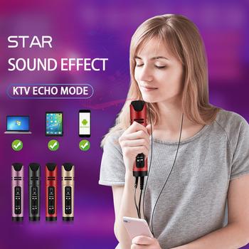 Online gwiazda przekaz na żywo i Youtube wideo mikrofon kondensujący śpiewać nagrywania Karaoke dla telefonów komórkowych telefonu komputera wsparcie 6 głos tanie i dobre opinie Nisheng Mikrofon ręczny Mikrofon pojemnościowy Karaoke mikrofon Wielu Mikrofon Zestawy Kardioidalna Przewodowy C16 Live video support change sound microphone