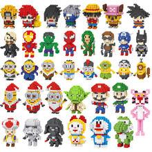 LINKGO diamond building blocks toys for kids ABS puzzle DIY figures Assembly Creative Plastic duplo mini Blocks bricks doll