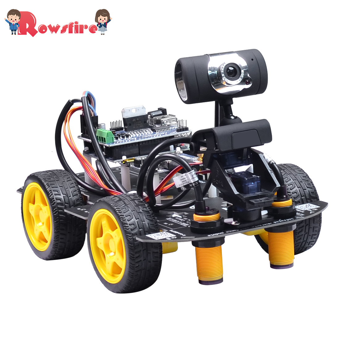 Programmable Robot DIY Wifi Steam Educational Car With Graphic Programming XR BLOCK LinuxObstacle Avoidance Version