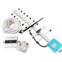 VOTK โทรศัพท์มือถือ GSM Signal Repeater โทรศัพท์มือถือ Booster 900Mhz 2G เครื่องขยายเสียง With13DBI เสาอากาศ YAGI ชุด