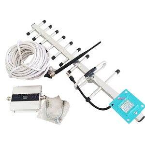 Image 1 - VOTK GSM sinyal tekrarlayıcı! Cep telefonu GSM sinyal güçlendirici yüksek kazanç 900mhz 2G sinyal güçlendirici anten ile tam set