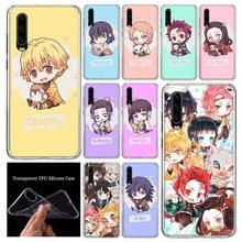 Coque de téléphone à motif Demon Slayer Kimetsu No Yaiba, jolie coque tendance pour Huawei P40 P30 P20 P10 Mate 30 20 10 Pro Lite P smart Z Plus