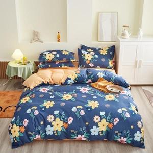 Image 2 - Solstice Home Textile Duvet Cover Pillow Case Flat Sheet Panda Cartoon Bedding Set Kid Boy Teen Girl Bed Linens Twin Full 3/4Pcs