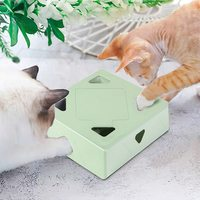 Juguete interactivo automático para gatos, pluma giratoria aleatoria, recargable por USB, electrónica