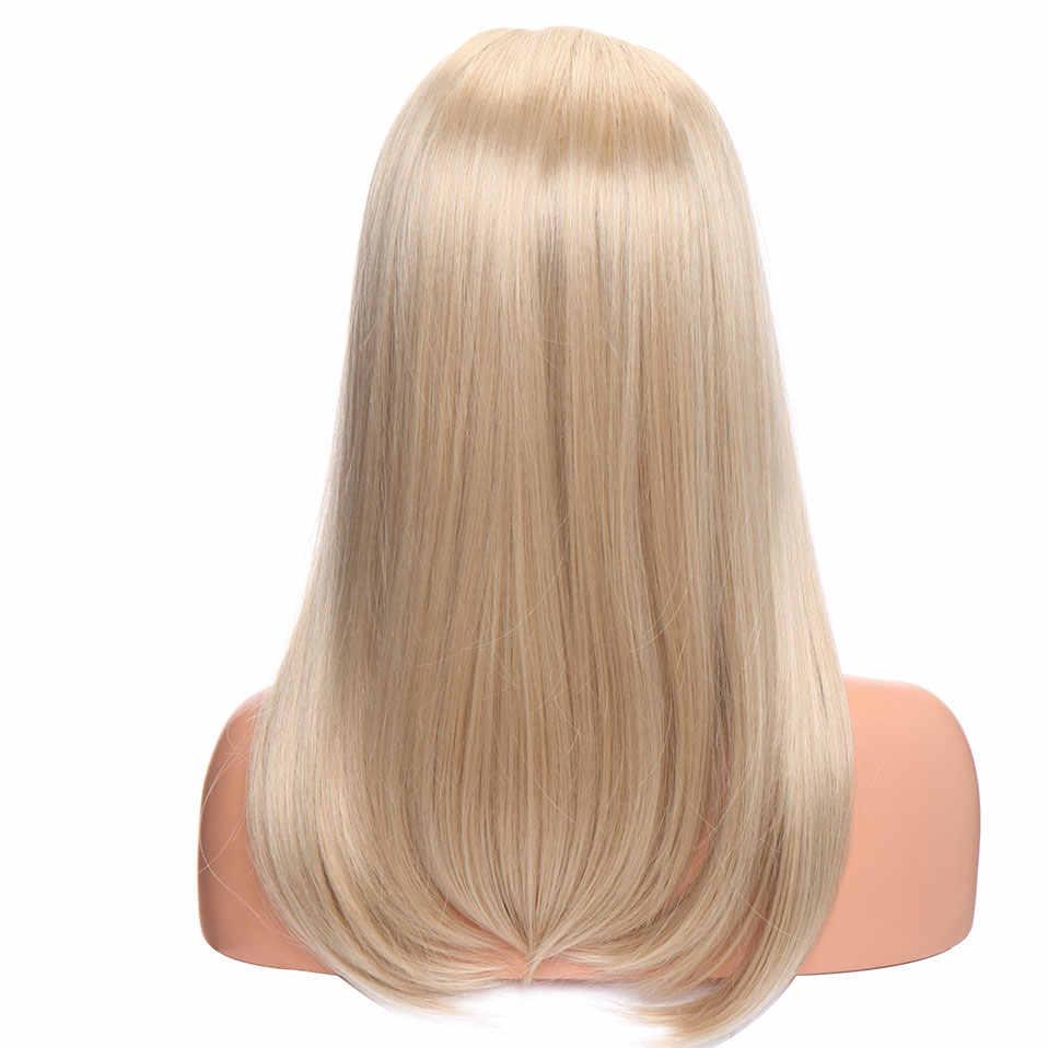 Perruque synthétique lisse longue avec raie au milieu-s-noilite | Perruque brune auburn blonde, perruque superposée pour femmes, perruque de soirée de cosplay