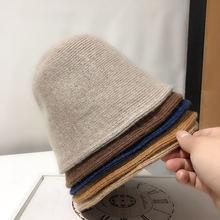 Европейская осенне зимняя шерстяная шляпа Женская однотонная