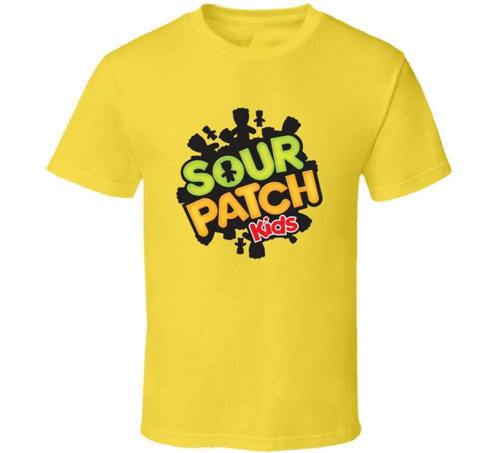 Kwaśny łatka dla dzieci cukierki do żucia Gummy koszulka męska Tee prezent nowy od nas bawełniana koszulka osobowość niestandardowe