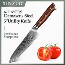 "XINZUO couteau utilitaire 5 ""pouces 67 couches"
