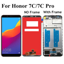 5.99 For Huawei Honor 7C Pro LND L29 LND AL30 LND AL40 LCD DIsplay Touch Screen Digitizer Assembly With Frame for Honor 7C