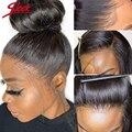 Перуанские Remy (Реми) 360 Синтетические волосы на кружеве al парик человеческих волос парики прямые Синтетические волосы на кружеве парики 360 п...