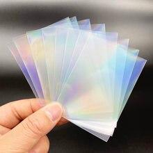 100 Uds Tarot arcoíris de papel YGO láser transparente claro mangas corea del ídolo foto holográfica Protector tarjetas cubierta del Protector