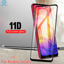 11D Full Screen Tempered Glass untuk Xiaomi Redmi 9 Perdana Catatan 9 Pro Max K30 Pro 8A 7A 6A Redmi catatan 8T.6 7 8 Pro Pelindung Layar(China)