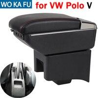 Für Volkswagen Polo armlehne box caja universal car center konsole caja änderung zubehör doppel angehoben mit USB-in Armlehnen aus Kraftfahrzeuge und Motorräder bei