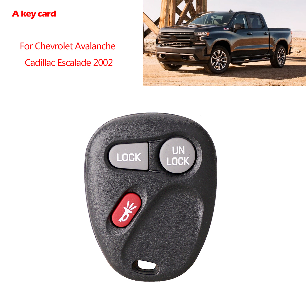 Control remoto de entrada sin llave Llavero de coche apto para Cadillac//Chevrolet//GMC Sierra Llave de coche remota