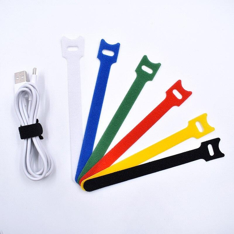 30pcs Adhesive Fastener Tape Self-Adhesive Velcro Bingding Line Data Strapping Belt Nylon Magic Tape Tie 12*150mm