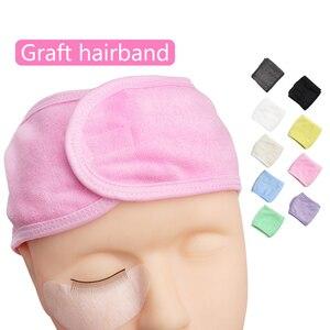 Image 5 - Flanel Cosmetische Hoofdbanden Zachte Strik Elastische Haarband Hairlace Voor Wassen Gezicht Douche Spa Makeup Tools
