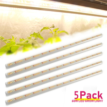 5 ชิ้น/ล็อต 60W Full Spectrum LED Grow Light T8 หลอดพืช Phytolamp ปลูกโคมไฟสำหรับพืชในร่มดอกไม้ vegs เมล็ดเติบโตเต็นท์