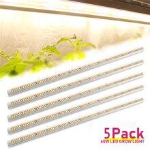 Lampe LED de croissance, 60W, T8, spectre complet, éclairage pour chambre de culture intérieure de plantes, légumes, graines, fleurs, 5 pièces/lot