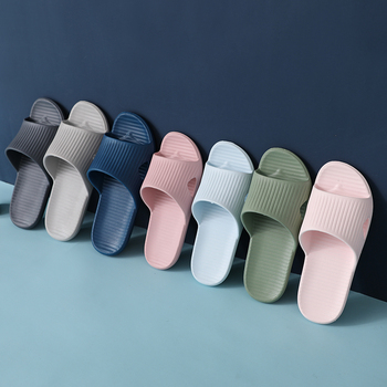 2020 New Men Shoes Indoor Flip Flop Floor Flat Shoes Summer Non-slip Flip Flops Bath Home Slippers Couple Comfortable Slipper fayuekey 2018 new spring summer fashion genuine leather home couples slippers indoor floor outdoor slippers non slip flat shoes