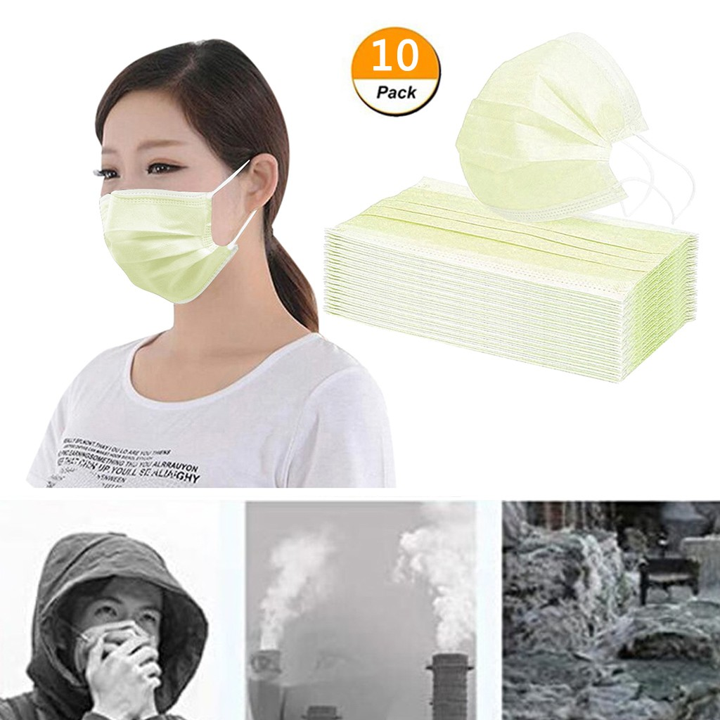 10PC Anti Dust Mouth Face Masks Mouth Mask Cover Mascherine Anti-droplet Mascarillas Proteccion Disposable Mouth Face Mask Cover