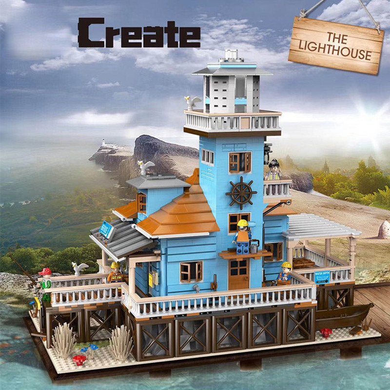 Creative Bricks Toys The Dive Shop Fishing Lighthouse and Boat Hous Diner Model Building Blocks 21310 Toys Kids Christmas Gifts