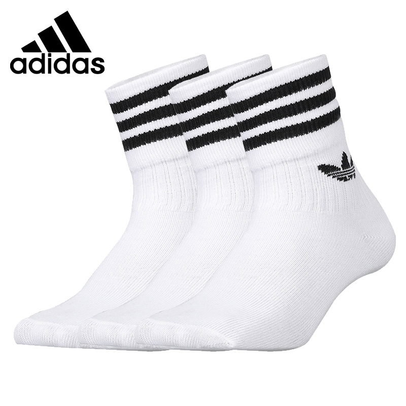 Original New Arrival  Adidas Originals MID CUT CRW SCK  Unisex  Sports Socks