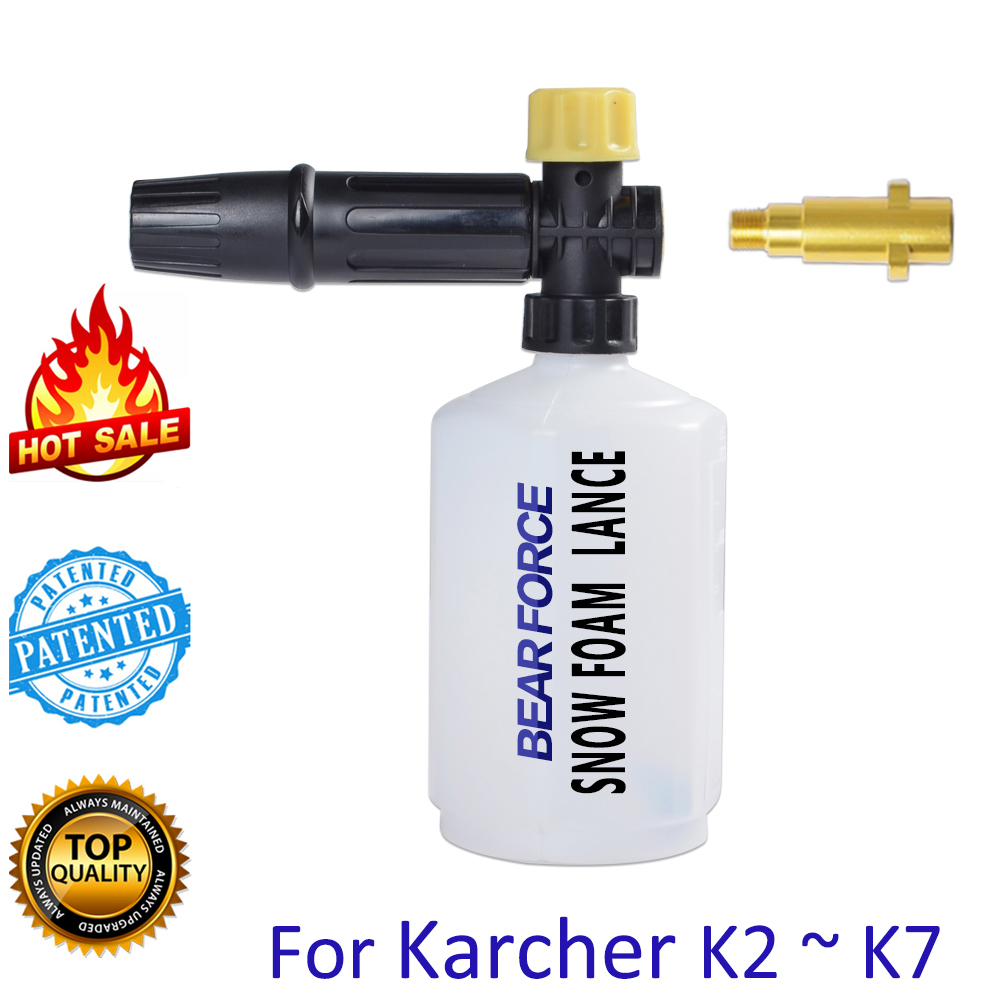 Pressure Washer Car Foam Wash Snow Foam Lance Foam Cannon Foam Generator Soap Foamer Gun Nozzle For Karcher Sink Pennik Car Wash