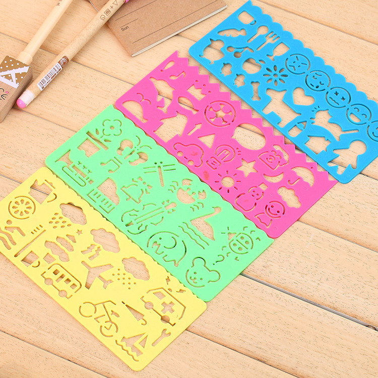 Manufacturers Direct Selling Spirograph Geometric Ruler With Lettered With Numbers Cartoon Pattern Duo Gong Neng Chi Wholesale
