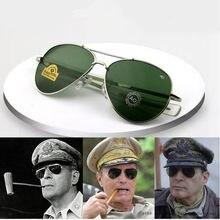 Vintage aviação óculos de sol para homens alta qualidade exército americano militar óptica ao óculos de sol feminino óculos de sol masculino